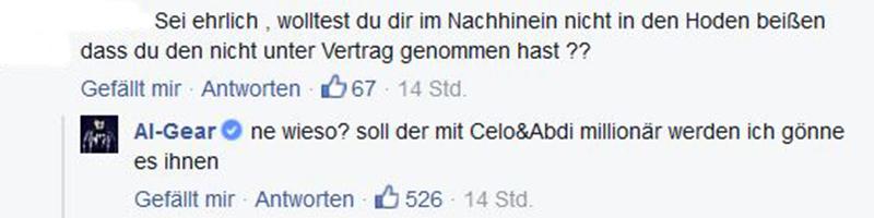 Kommentar von Al-Gear bei Facebook