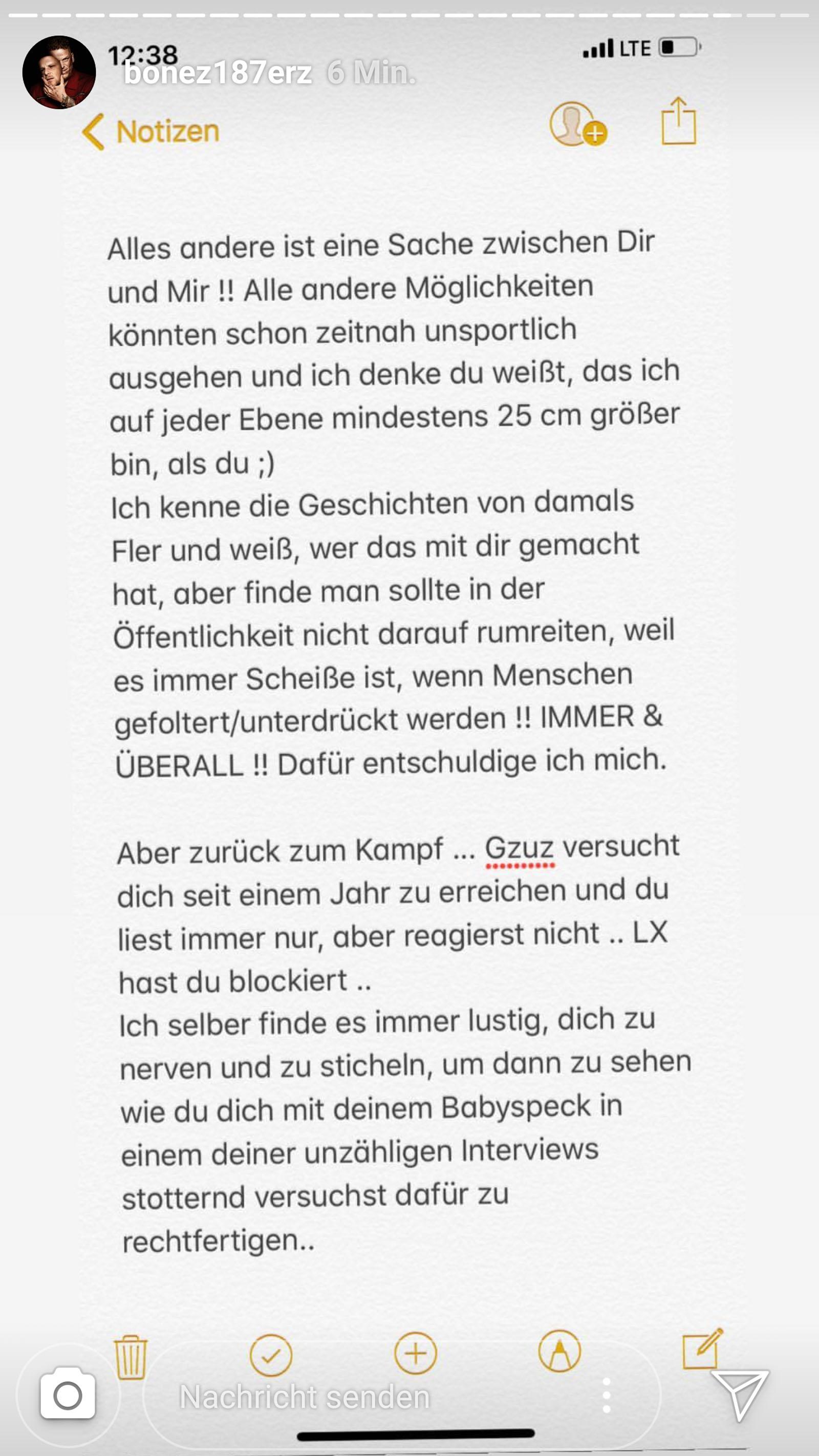 Bonez MC entschuldigt sich bei Fler