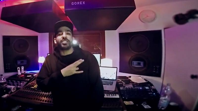 """Screenshot von Fard während Studiosession zum Song """"Gorg"""""""