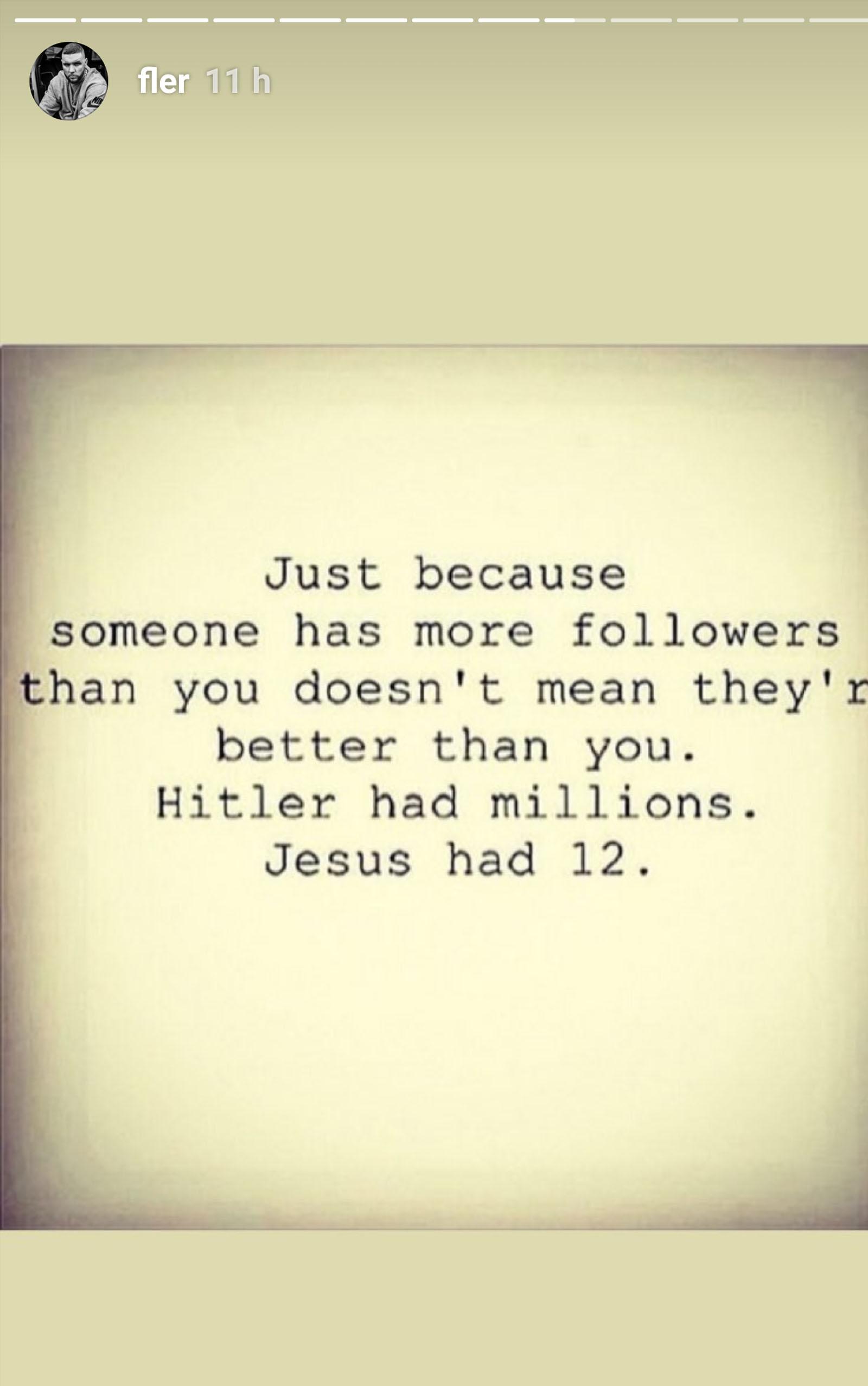 Fler scheint die Anzahl seiner Follower egal zu sein