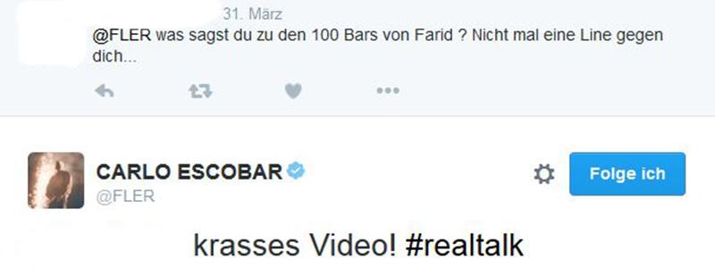 Fler bei Twitter über 100 Bars von Farid Bang