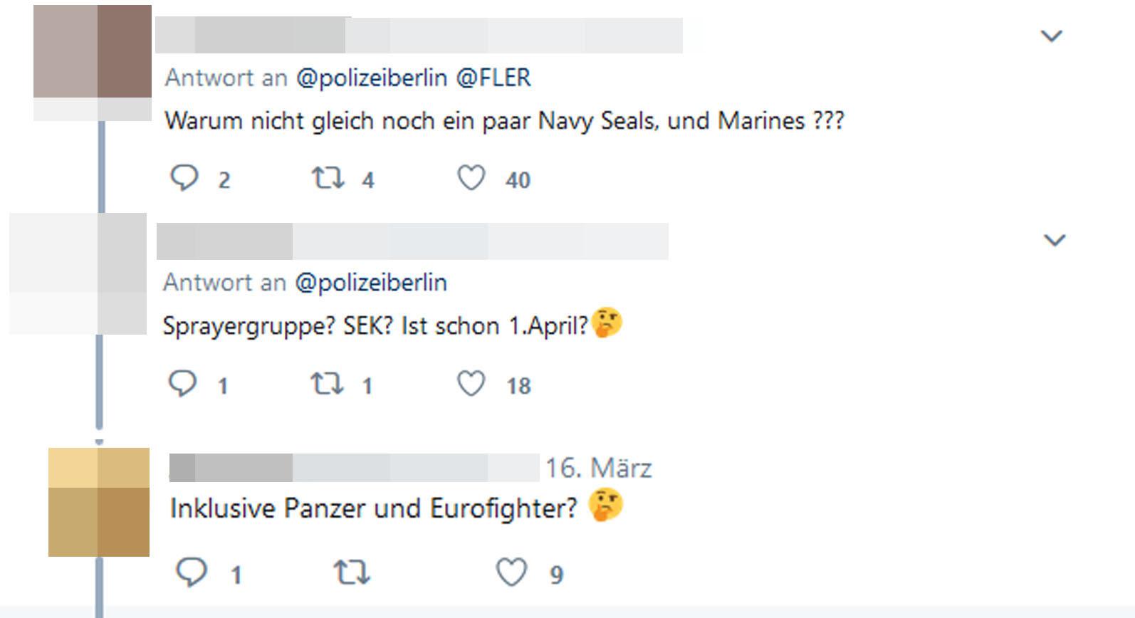 Twitter-User über den SEK-Einsatz bei Fler
