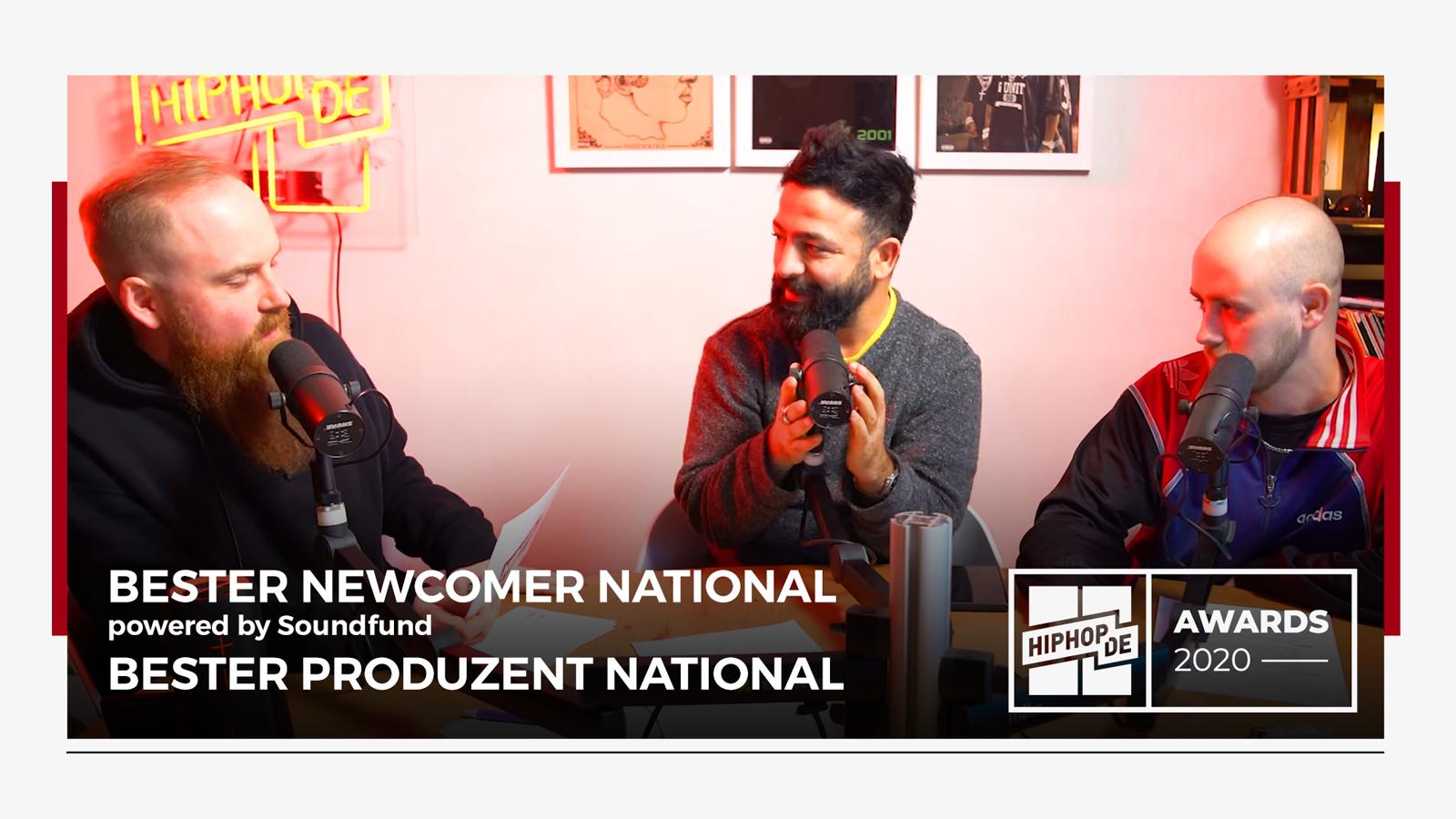 """Jahresrückblick:  """"Bester Newcomer"""" & """"Bester Produzent"""" National – Hiphop.de Awards 2020 (3/8)"""