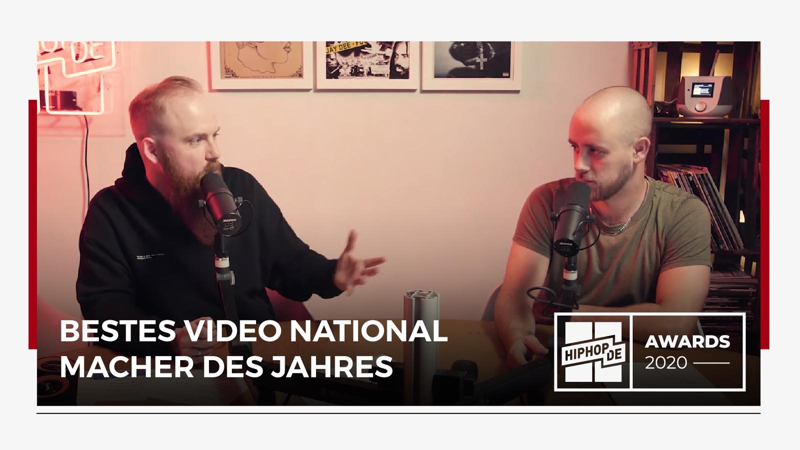 """Jahresrückblick: """"Bestes Video National"""" & """"Macher des Jahres"""" – Hiphop.de Awards 2020 (6/8)"""