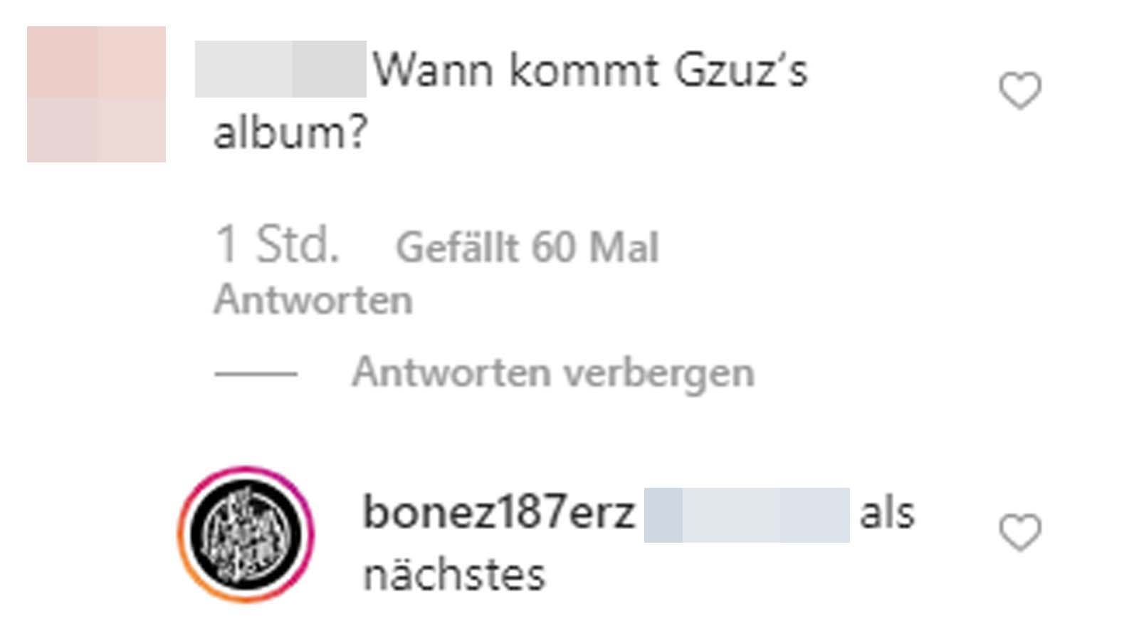 Bonez MC kündigt Gzuz-Album an