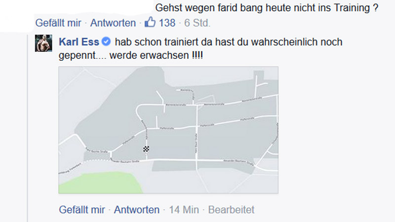 Screenshot: Karl Ess bei Facebook (Kommentar) am 24. September 2015