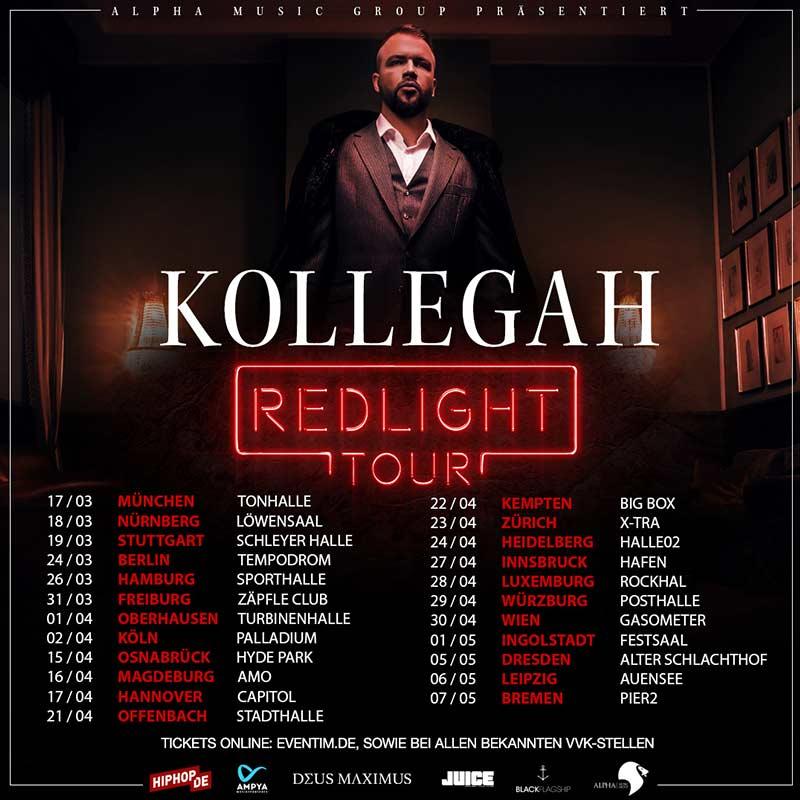 Flyer zur Redlight Tour von Kollegah