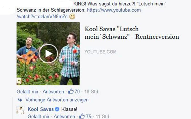 Facebook-Kommentar von Kool Savas