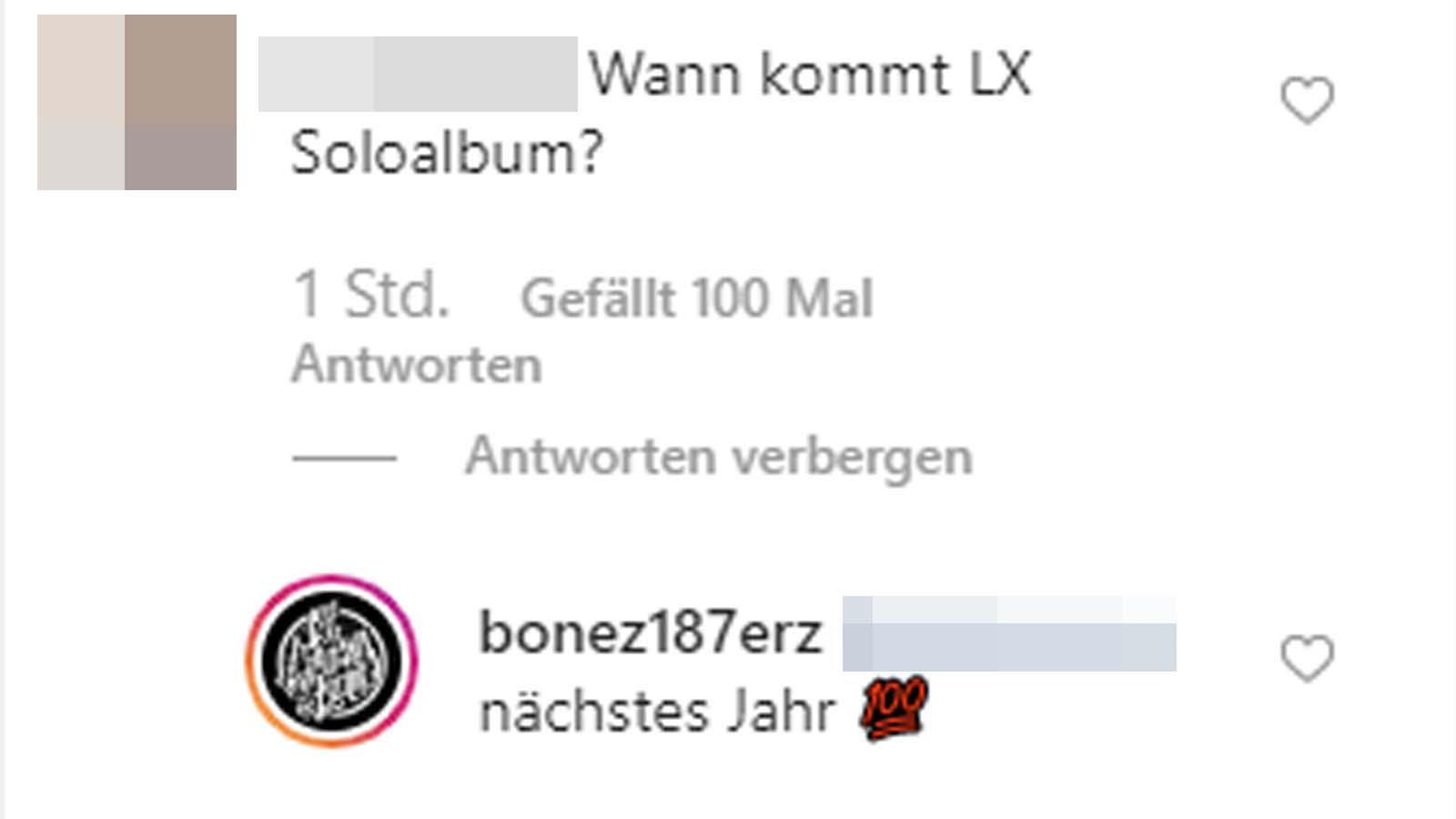 Bonez MC sagt, dass LX 2020 ein Soloalbum releast