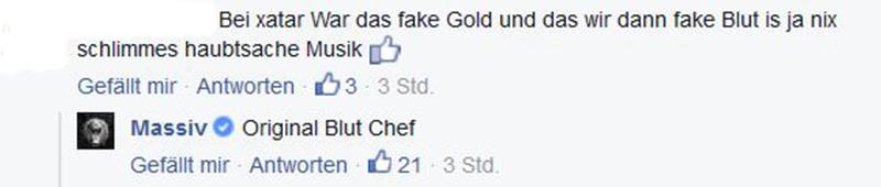 Screenshot: Massiv bei Facebook