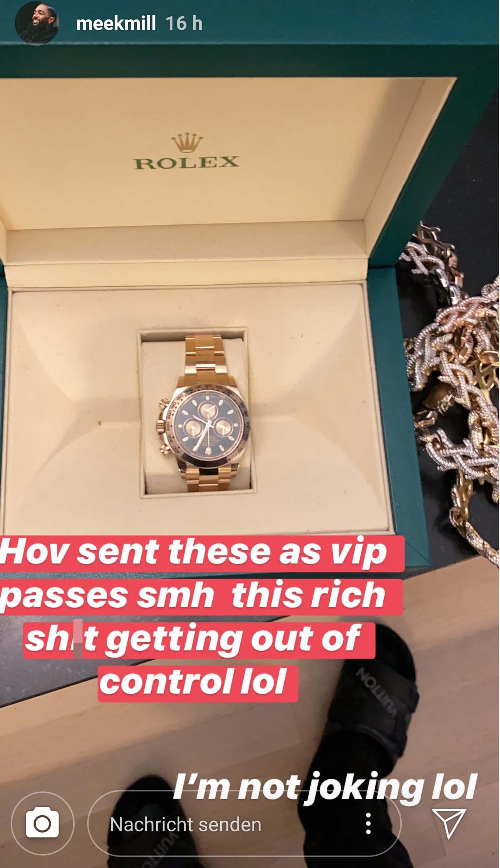 Meek Mill erhält Rolex von Jay-Z
