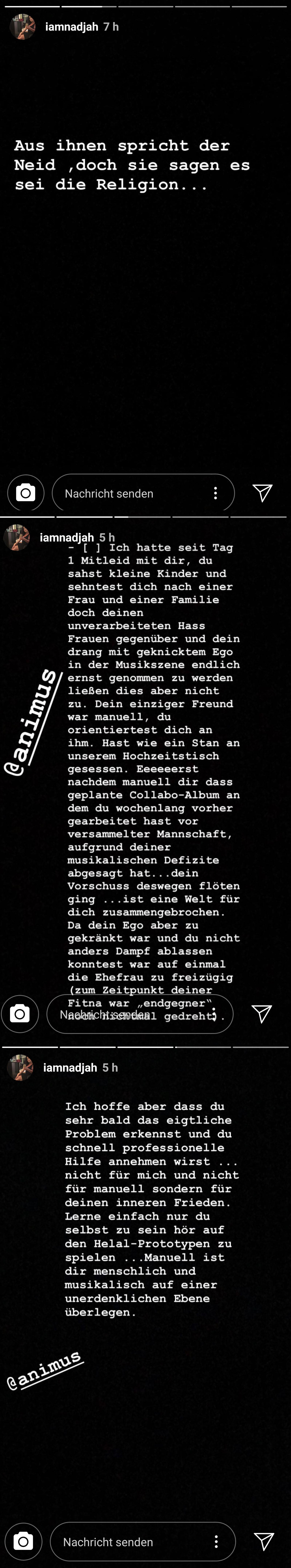 Manuellsen Frau Nadja zum Statement von Animus