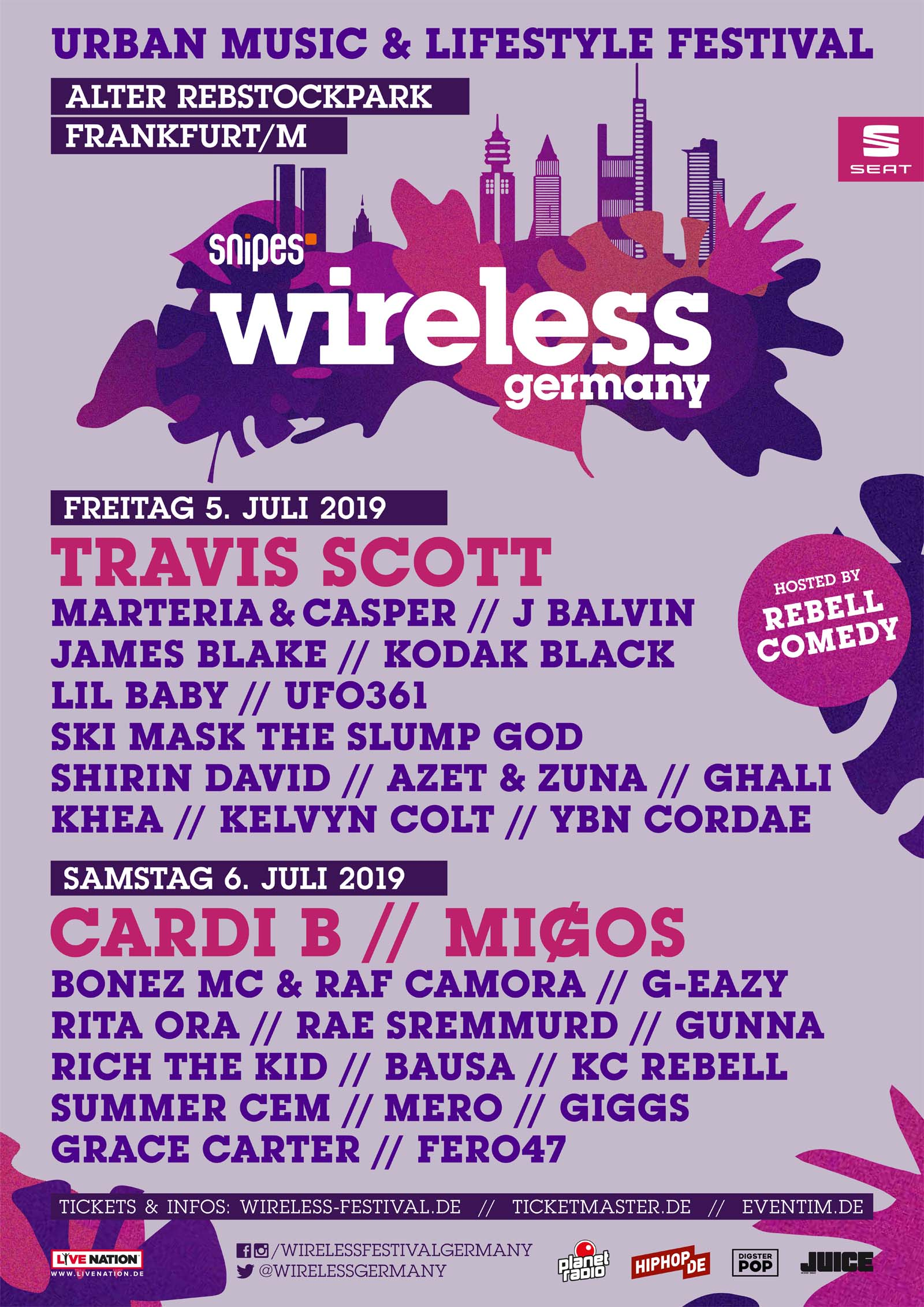 Komplettes Lineup Wireless Festival 2019