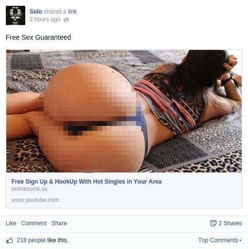 Screenshot, Sidos Facebook Seite