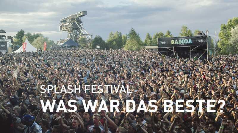 Zuschauer beim Splash! Festival