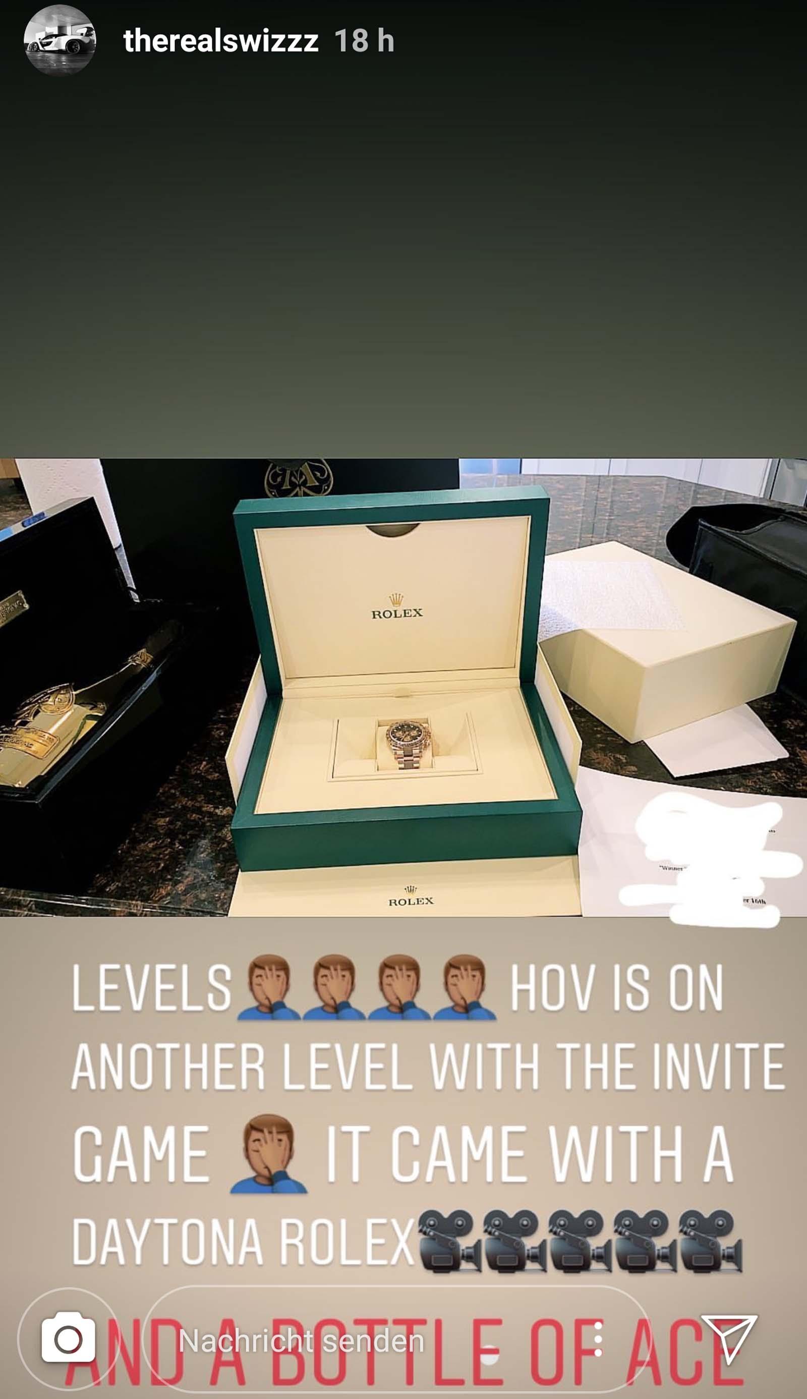 Swizz Beatz bekommt Champagner und eine Rolex von Jay-Z