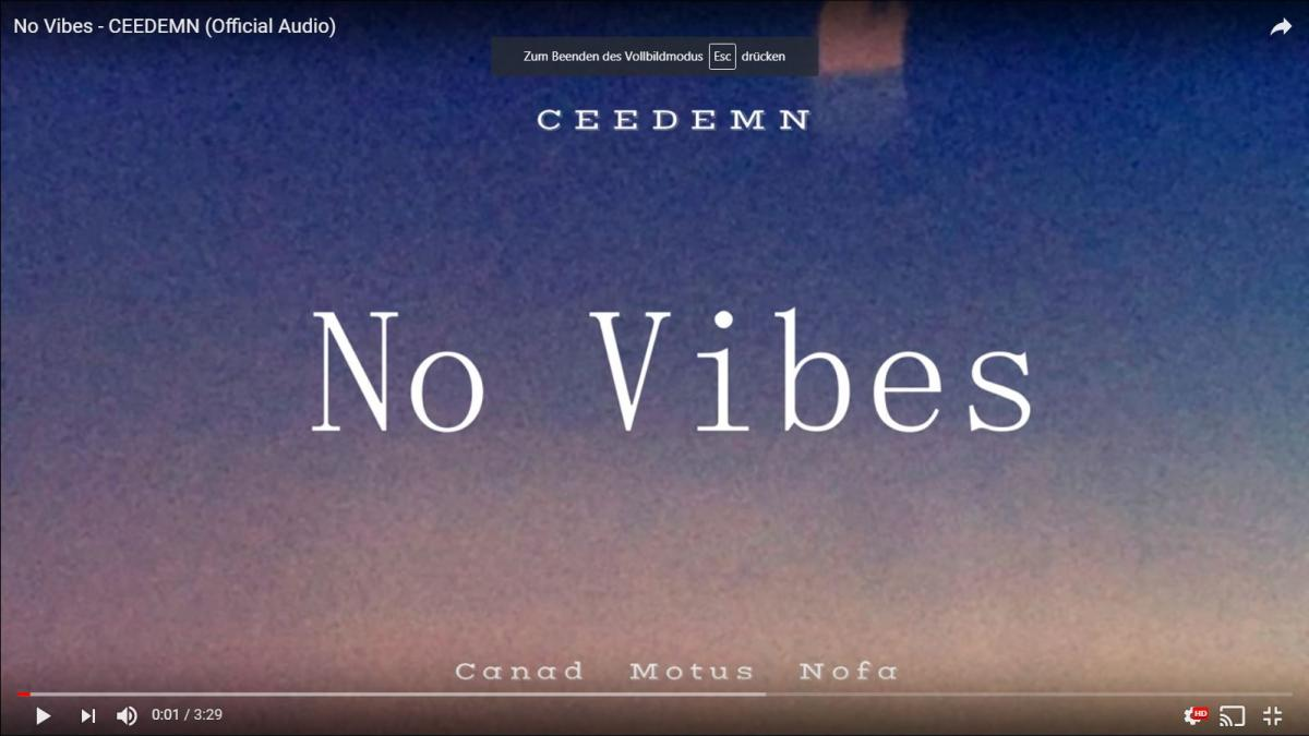 Upcoming: Ceedemn - No Vibes