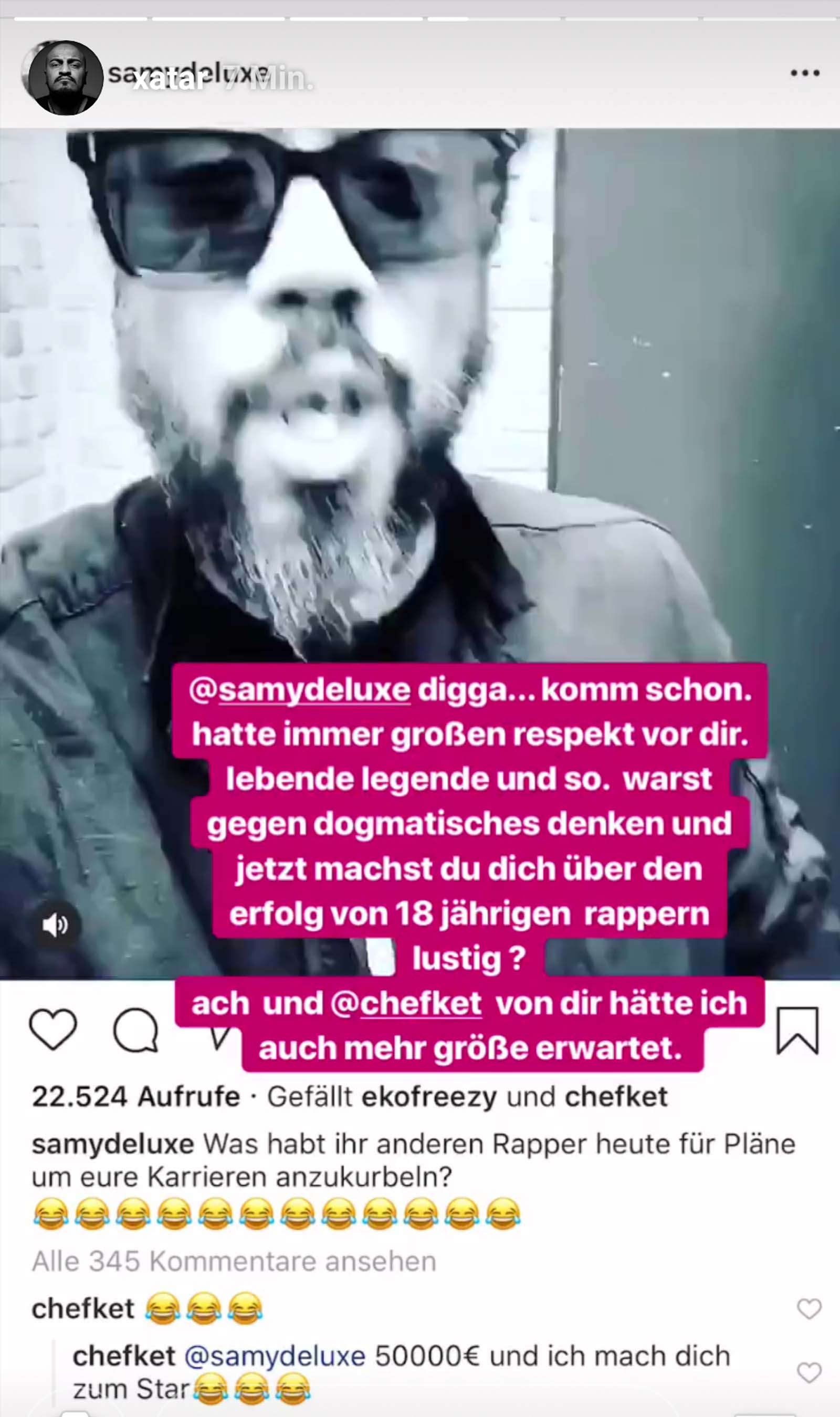 Xatar kritisiert Samy Deluxe und Chefket